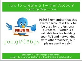A Great Visual  Guide to Create Twitter Account for your Class | Technology in Art And Education | Scoop.it