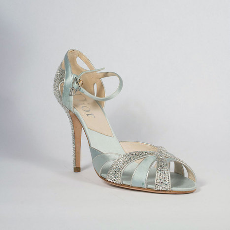 Christian Dior Strassed Womens Shoes Blue Satin Deco Sandals (CDW42) | Designer Womens Shoes | Scoop.it