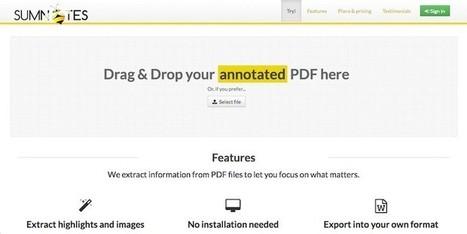 Sumnotes, para exportar el texto que hayamos subrayado en un PDF | desdeelpasillo | Scoop.it