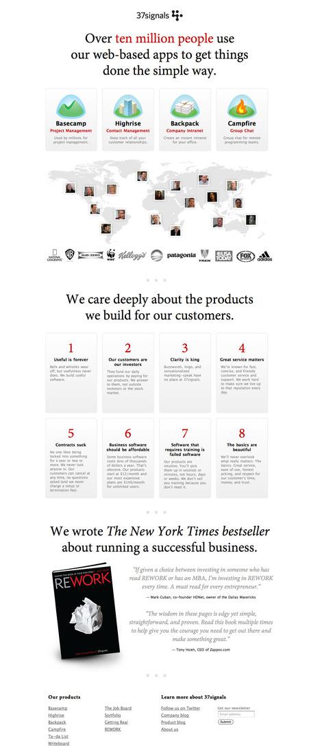 Behind the scenes: 37signals.com Redesign | Design | Scoop.it