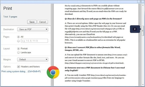 Save Web Pages as PDFs Without Installing Extensions | iPedagogy | Scoop.it