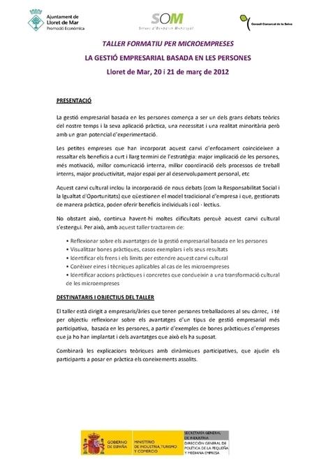 Formació Ajuntament de Lloret de Mar | para paro Lloret de mar | Scoop.it
