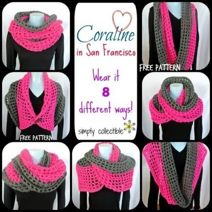 Coraline in San Francisco Cowl Wrap - free crochet pattern - Simply Collectible | Crochet | Scoop.it