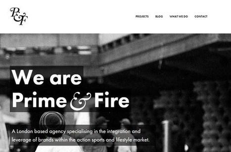 #WebDesign : 40 sites illustrant des typographies web super créatives | Web design | Scoop.it