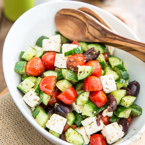 Greek Style Tomato Cucumber Salad - The Healthy Foodie | Passion for Cooking | Scoop.it