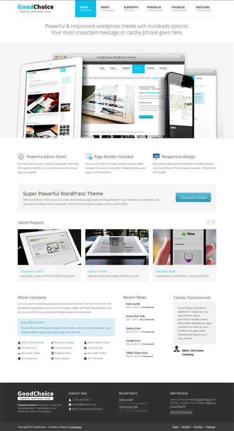 Goodchoice, WordPress Premium Multi Purpose Theme | WP Download | wp | Scoop.it