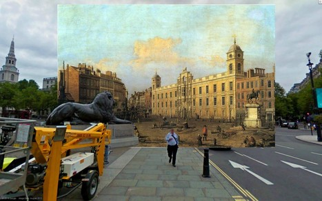 18th and 19th Century Paintings of London Superimposed on ...   Ancient Art   Scoop.it