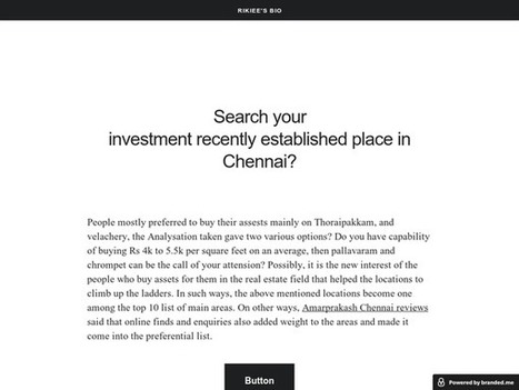 Search your investment recently established place in Chennai?brande   property investment in chennia   Scoop.it