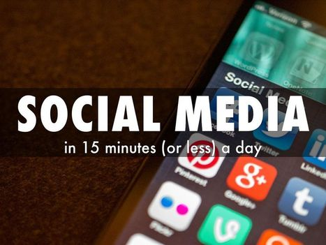 """""""Social Media in 15 Minutes a Day"""" - A Haiku Deck by Alice Ferris 