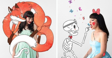 I Create Whimsical Self Portraits By Bringing Cartoons To Life | Graphic design | Scoop.it