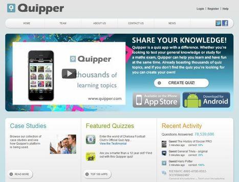 Quipper: Maak op de pc quizzen voor Iphone, Ipad of Android. | Mediawijsheid in het HBO | Scoop.it