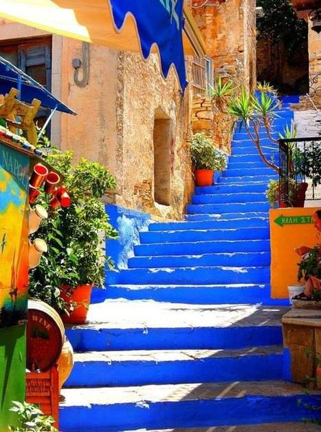 Symi Island, Greec Colorful blue stairs!!! | Combo Holidays | Scoop.it