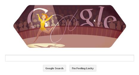 London 2012 rhythmic gymnastics Google Doodle | RtoZ Social Media News | london olympics doodles | Scoop.it