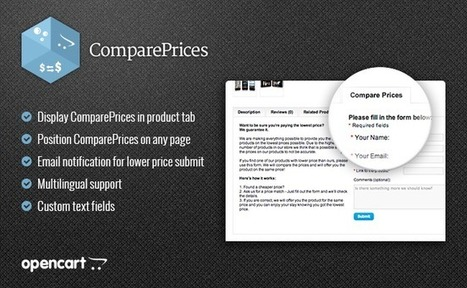 ComparePrices - Found a lower price? - Marketing / Sales | iSenseLabs | Best OpenCart Modules | Scoop.it