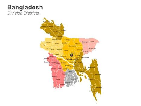 Bangladesh Districts Map - Editable PowerPoint Slides | bangladesh | Scoop.it