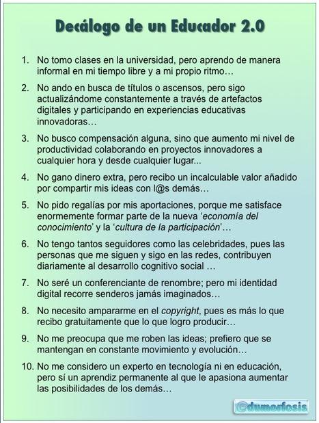 Educación tecnológica: Decálogo de un educador 2.0 | Recull diari | Scoop.it