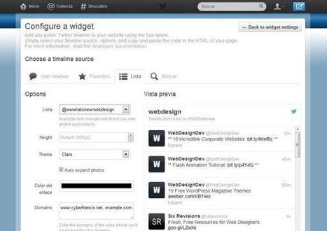 Twitter lanza herramienta de widgets para integrar líneas de tiempos en sitios web | Educación, tecnologías emergentes | Scoop.it