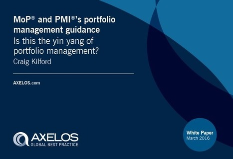 "AXELOS White Paper Released: ""Is this the Yin Yang of Portfolio Management?"" 