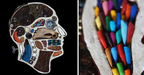 Medical Diagram Portraits Created from Found Objects by Edwige Massart & Xavier Wynn #art #foundobjects | Luby Art | Scoop.it