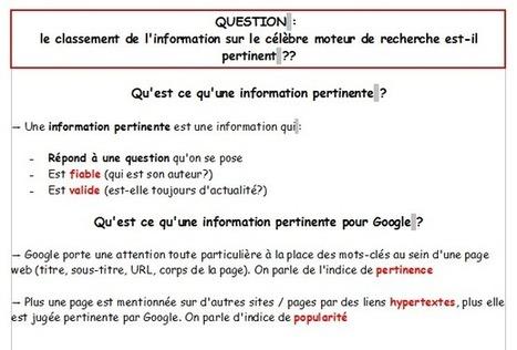 Séance 7: Culture Net' - Classer l'information sur le web (Initiation) (techniques documentaires 6ème) | Etudions Google | Scoop.it