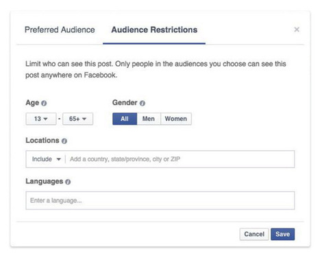Facebook Audience Optimization : un nouveau ciblage pour publications organiques ! | CommunityManagementActus | Scoop.it