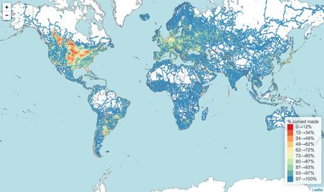Quels pays ont les routes les plus sinueuses ? | Journalisme graphique | Scoop.it