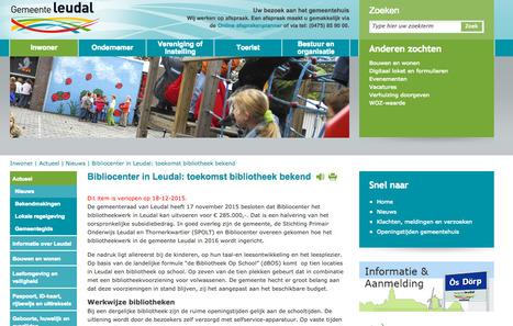Gemeente Leudal reorganiseert bibliotheekvoorziening vanwege bezuiniging - Bericht - Bibliotheekblad | trends in bibliotheken | Scoop.it
