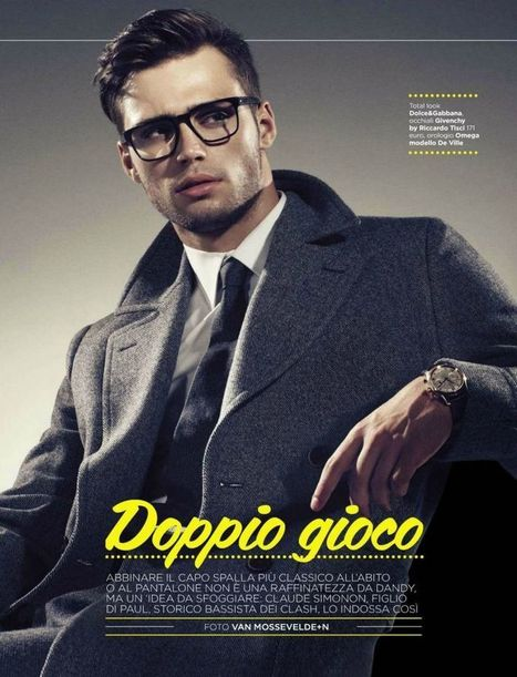 Claude Simonon is a Classic Vision for Italian GQ | Italian Inspiration | Scoop.it
