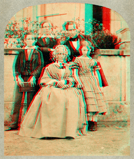 Family 1860s (anaglyph)   Flickr - Photo Sharing!   3D Eye Candy   Scoop.it