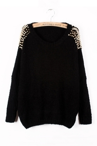 Studded Loose Sweater - OASAP.com | Street Fashion | Scoop.it
