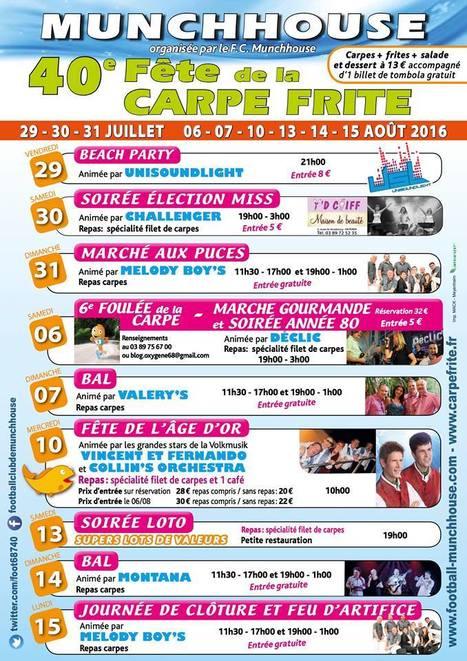 40 eme FETE DE LA CARPE FRITE 2016 - tout le programme des festivités - Munchhouse haut-rhin Alsace 68 | 40 EME Fête de la Carpe Frites Munchhouse haut-rhin | Scoop.it