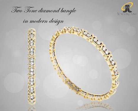 Two Tone Diamond Bangle | Diamond Jewellery India | Scoop.it