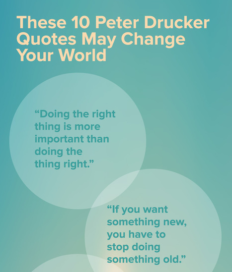 These 10 Peter Drucker Quotes May Change Your World | EFL Student-Centered Teaching | Scoop.it