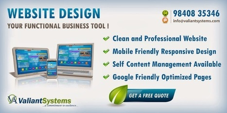Web Design Company Chennai: Clean and professional website at affordable price | Web Design Company In Chennai | Scoop.it