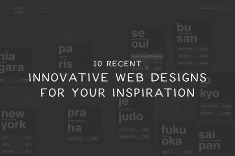 10 Recent Innovative Web Designs For Your Inspiration | Web Design & Development | Scoop.it