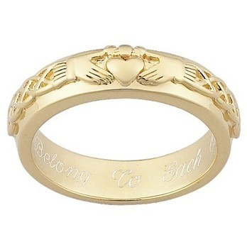Gold Over Sterling Silver Personalized Engraved Claddagh Wedding Band   Fashion Zone   Scoop.it