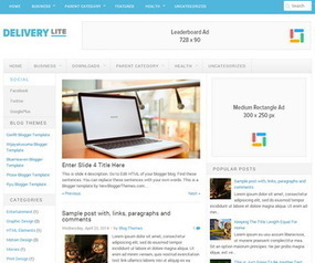 Delivery Lite Blogger Template | Blogger themes | Scoop.it