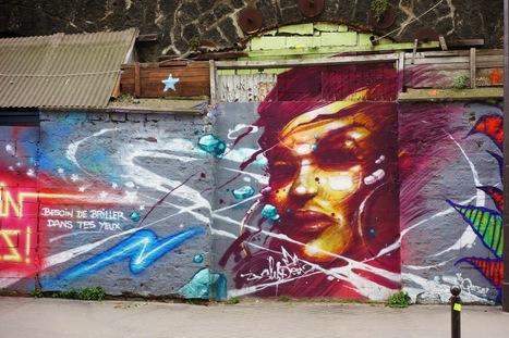 Sunday Street Art : Sly2 - rue de l'Ourcq - Paris 19   Paris la douce   Richard and Street Art   Scoop.it