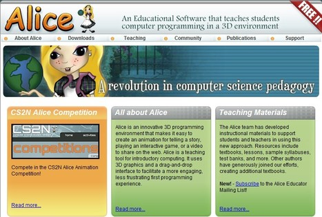 Alice is an innovative 3D programming environment | 21st Century Tools for Teaching-People and Learners | Scoop.it