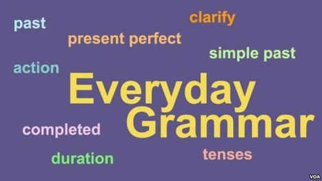 Everyday Grammar - Simple Past and Present Perfect | English teaching. Online resources | Scoop.it