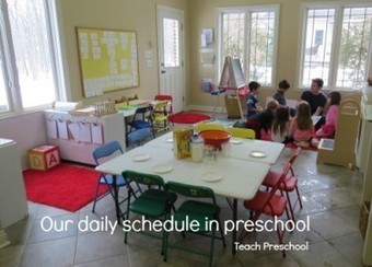 Our daily schedule in preschool | Teach Preschool | Scoop.it