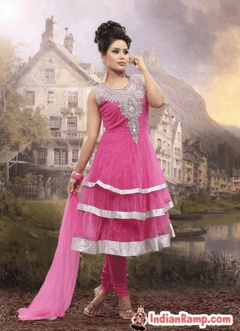 New Launched Attractive Anarkali Churidar Salwar kameez with Frills | Indian Ramp | Indian Fashion Updates | Scoop.it
