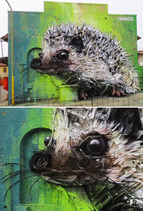 Artist Turns Trash Into Animals To Remind Us About Pollution | Street Art | Scoop.it