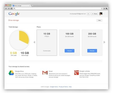 Google pools cloud storage across Gmail, Drive and Google+ - Computer Business Review | 21st Century Learning in the Classroom | Scoop.it