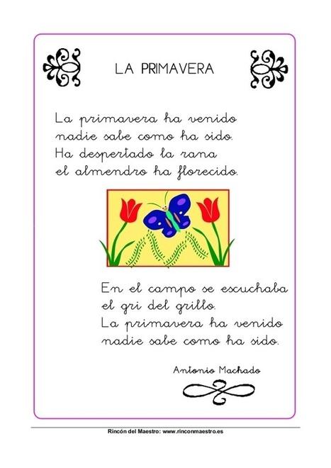 El blog de la profe Isa: 5 Poemas (+ 9) para primavera | Español para los más pequeños | Scoop.it