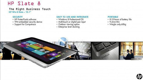 HP Slate 8 is One Slim and Sleek Looking Windows 8 Tablet | HP Slate | Scoop.it