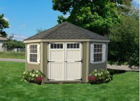 Wood Sheds :: 5 Sided Colonial Corner Shed | Wood Sheds | Scoop.it