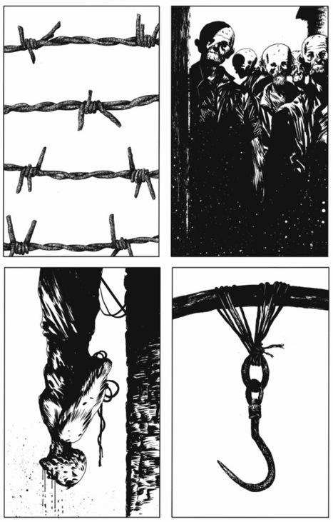 Manu Larceneta convoqué Cézanne, Van Gogh, le Caravage, Pissaro et Rembrandt pour livrer des planches d'une précision exceptionnelle. | Street-art Design Grafititi et Gros minet | Scoop.it
