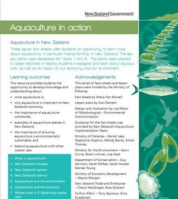Aquaculture in action - NZ Educational Materials   Aqua-tnet   Scoop.it