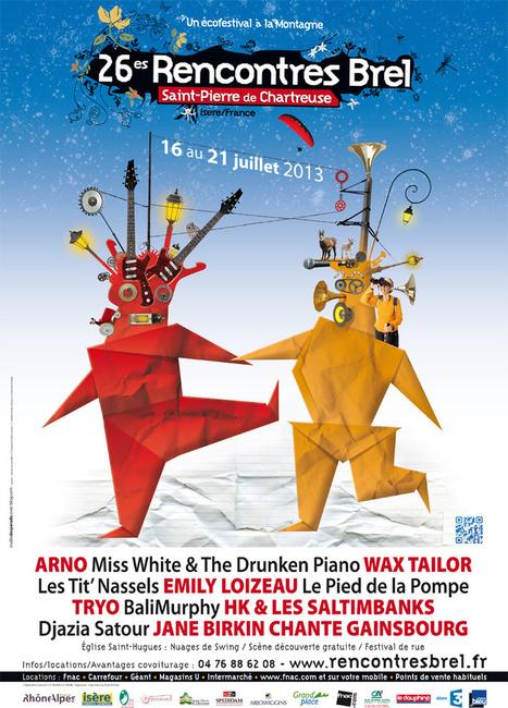 Festival les Rencontres Brel du 16 au 21 juillet - MJC Chambéry   Chambéry Actu   Scoop.it